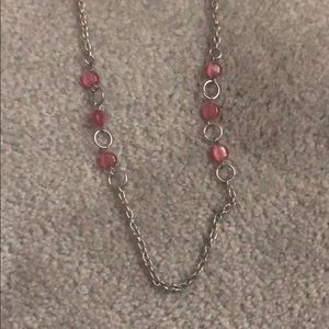 Jewelry - Pink and Silver Statement Chain